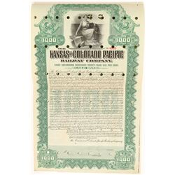 Kansas and Colorado Pacific Railway Co. Bond  (104871)