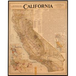Large California Railroad Map  (91511)