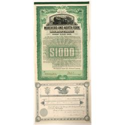 New Jersey Railroad bond and stock   (101242)