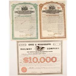 Ohio & Mississippi Railway Company Bond Certificates  (81043)