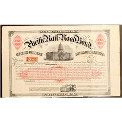 Pacific Railroad Bond  (101293)