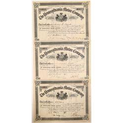 Pennsylvania Motor Company Stock Certificates  (103472)