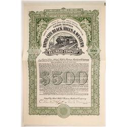 Rapid City, Black Hills & Western Railroad Co.  Bond  (82714)