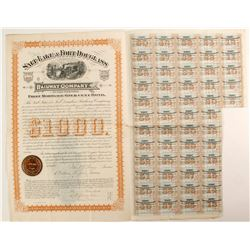 Salt Lake & Fort Douglass Railway Co  Bond  (82702)