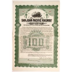 San Juan Pacific Railway Co Bond  (81772)