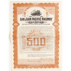 San Juan Pacific Railway Co. Bond  (81721)