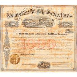 Santa Clara County /San Francisco & San Jose Railroad  (101286)