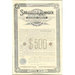Saratoga & Almaden Railroad Co  (101292)