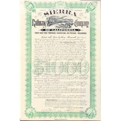 Sierra Railway Co of Calif Bonds (2)  (101299)