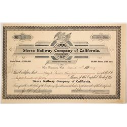 Sierra Railway Co of Calif stock  (81762)
