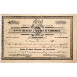 Sierra Railway Co of Calif stock  (81762)