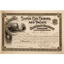Silver City, Deming and Pacific Railroad Co. stock  (81760)