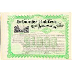 The Canon City & Cripple Creek Electric Railway  Co.  (101307)