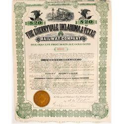 The Cherryvale Oklahoma & Texas Railway Company Bond  (81704)