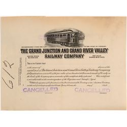 The Grand Junction and Grand River Valley Railway Company - Printers Proof  (104895)