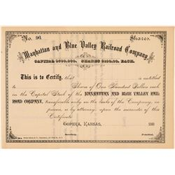 The Manhattan and Blue Valley Railroad Co.  (101370)