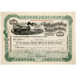 The Red Mountain Railroad Mining & Smelting Co  Stock  (82712)