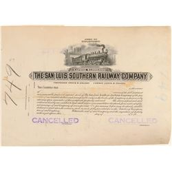 The San Luis Southern Railway Co. - Printers Proof  (104896)