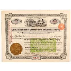 The Transcontinental Transportation and Mining Co stock  (81739)