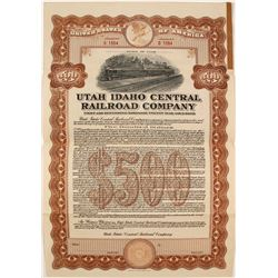 Utah Idaho Central Railroad Co Bond  (81729)