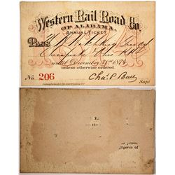 Western Rail Road Co. of Alabama Pass, 1874  (60305)