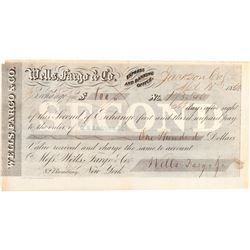 Rare Wells Fargo Second of Exchange  (102271)