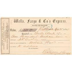 Rattlesnake Wells Fargo Receipt addressed to Dotans Bar  (102275)