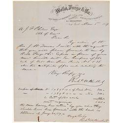 Wells Fargo Letterhead about California War Bonds  (102265)