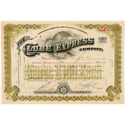 Globe Express Company Stock Certificate  (91600)