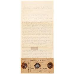Cornucopia, Wells Fargo Money Order Envelope with Original Cornucopia Wax Seals  (99121)