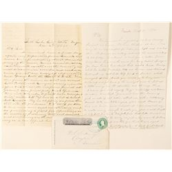 Eureka, Wells Fargo Entire with two interesting mining letters  (99123)