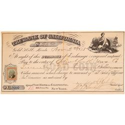 Gold Hill, Bank of California, Duplicate of Exchange  (102245)