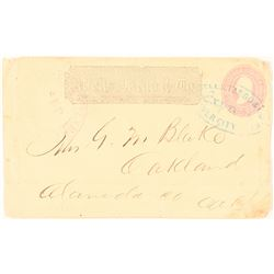 Early Silver City, Utah Territory, Bamber Express on a Wells Fargo Entire  (99098)