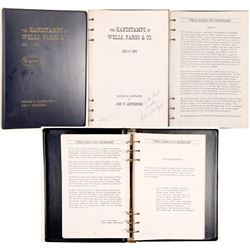 """Book / """" The HANDSTAMPS  of Wells Fargo & Co / 1852-1895  (102139)"""