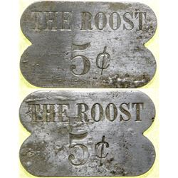 The Roost Brothel 5-cent Token  (101831)