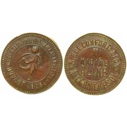 Madame Aline Brothel Token  (103530)