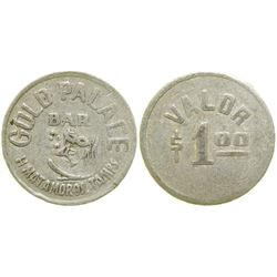 Gold Palace Bar Brothel Token  (104571)