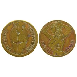 Capri Night Club Brothel Token  (104573)