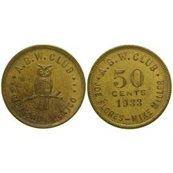 A. B. W. Club Brothel Token  (104574)
