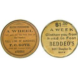 F. C. Gove Advertising Mirror  (101167)
