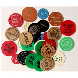 Historic Plastic and Wooden Token Collection  (85452)