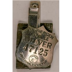 Passanger Vehicle Driver Badge  (102833)