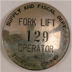 Treasure Island ID Badge  (102810)
