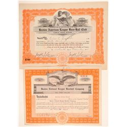 Boston American and National Stock Certificates  (101432)