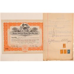 Boston Red Sox Stock Certificates, 1916  (101434)