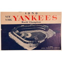 1959 New York Yankees Official Program and Scorecard  (104094)