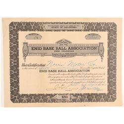 Enid Base Ball Association stock  (101422)