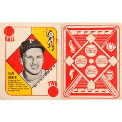 1951 TOPPS Red Back Ralph Kiner Card  (104072)