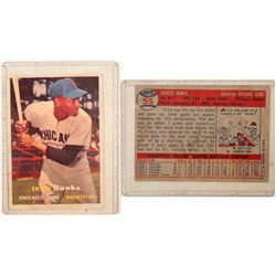 1957 TOPPS Ernie Banks Card  (104075)