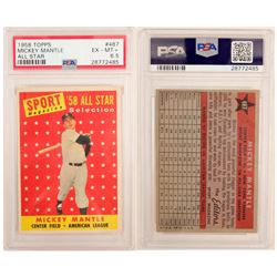 1958 TOPPS Mickey Mantle All Star Card  (104067)